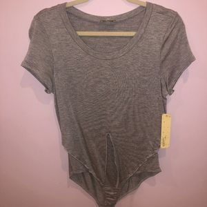 Grey Bodysuit NEW WITH TAGS